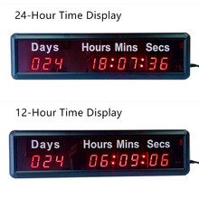 DHL The Lowest Prices THE DAYS COUNTDOWN TIMER Large LED Digital Wall Clock Modern Design Home Decor Stopwatch Digital-watch(China)