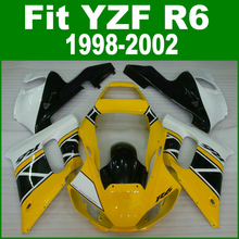 Abs Fairings For YAMAHA R6 98 - 02 Abs Fairing kit ( yellow ) free shipping & customize ll19