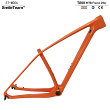 Buy SmileTeam Ultralight T1000 Carbon Orange Mtb Frame 29er Carbon Mountain Bike Frame 142*12 Thru Axle 135*9mm QR Bicycle Frame for $291.06 in AliExpress store