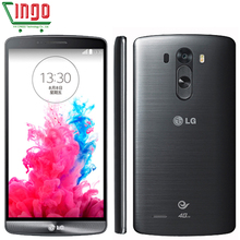 Original LG G3 D855 D850 D851 Mobile Phone  4G LTE 3GB RAM 32GB ROM Quad Core 5.5'' 2560*1440px Screen Android 13.0MP