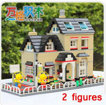 755 Pcs Super Large Villa Building Block Eductional Toys Structure House Models Brick Block Compatible With lepin Block Gift(China)