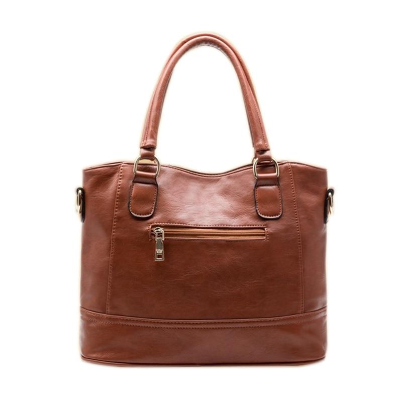 Fashion Women Leather Handbags Tote Bag Vintage Women Motorcycle Bag Ladies Leather Messenger Bags Brand Shoulder Bag<br>
