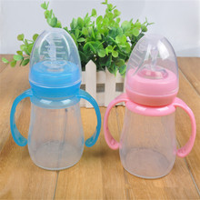 For Albumen Period Infant Baby Favor Feeding Bottle Silica Gel Spoon Rice Cereal Complement Milk Feeder Wide Mouth With Handle