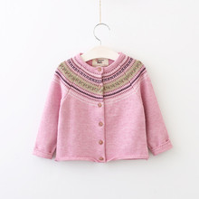 Girls Knitted Sweater 2017 Fashion New Autumn Winter Pullover Cute Long Sleeve Girl Cotton Sweater For Children Kintted Sweater(China)