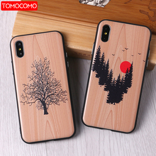 TOMOCOMO imitative Wood Cover 6 6Plus 7 7Plus 8 8Plus X 3D Relief Elephone Vintage Style Phone Cases Cover Capa Fundas