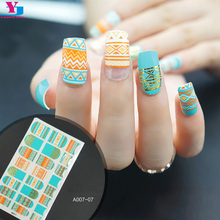 3D Beauty Harajuku Style Nail Sticker French Nails Patch Nail Art Decorations Unghie Tattoo Stickers Adesivo Unha Manicure Set
