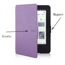 Original 1:1 Leather Cover Smart Case for Amazon Kindle 7th Generation New 2014 Ebook Reader + Screen Protector + Stylus(China)