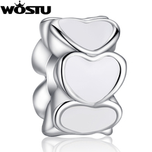 Hot Sale TOP Quality Silver Plated Heart Charm Beads Fit Original Pandora Bracelet Pendants For Women DIY Jewelry SDP5284