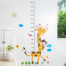Cartoon children room baby measuring height of stickers Home Decor Art Accessories Decorations 90*60CM free shipping