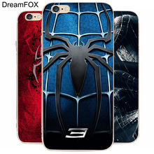 DREAM FOX K207 Spider Man 3 Blue Chest Transparent Hard Thin Case Cover For Apple iPhone 8 X 7 6 6S Plus 5 5S SE 5C 4 4S(China)