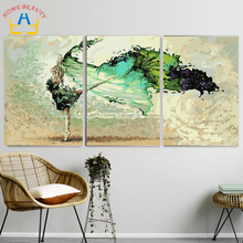 3pc/set DIY oil painting by numbers triptych decorative painting calligraphy abstract coloring by number acrylic picture SL002(China)