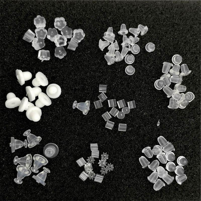 1000 Gummi Ohrmuttern Stopper für Ohrringe 5*5mm