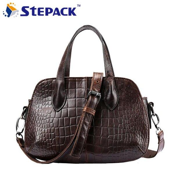 Hot Sale Women Genuine Leather Messenger Bags Casual Shoulder Bag Croodile Pattern Ladies Handbags Bolsas Femininas WMB0216<br>