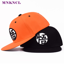 2017 New Dragon Ball Kakarotto Orange Flat Snapback HipHop Caps Hat Unisex Youth Adult Men Son Goku Dancer Snapback Caps