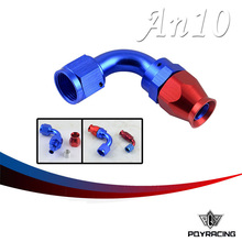 PQY RACING- High Quality PTEF AN10 AN-10 90DEGREE REUSABLE SWIVEL TEFLON HOSE END FITTING AN10 PQY-SL6090-10-311
