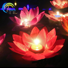 10pcs / Valentine's gift wishing lamp Lotus Lantern wedding party activities props blessing lotus lanterns multicolor