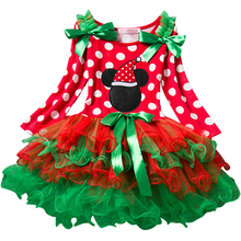 New Year Christmas Baby Girl Dress Red Festival Kids Tulle Costume For Girls Clothes Little Bebes Tutu Dress Children's Clothing