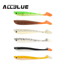 ALLBLUE 4pcs/lot 6g/11cm Handmade Soft Bait Fish Fishing Lure Shad Manual Silicone Bass Minnow Bait Swimbaits Plastic Lure Pasca