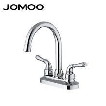 JOMOO bathroom basin faucet mixer tap double handle double hole chrome wash basin sink faucet 2203-249(China)