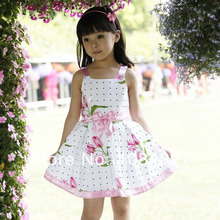 girls' dresses new fashion summer baby dress baby girl clothes kids flowers cotton dress girls clothes retail