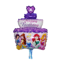Free shipping new mini cake princess wedding banquet aluminum foil balloons baby birthday party decoration balloon