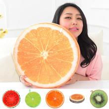Summer 2017 Crative  3D Simulation Plush Fruit PP Cotton Office Chair Back Cushion Sofa Throw Pillow Gifts For Friend Lover