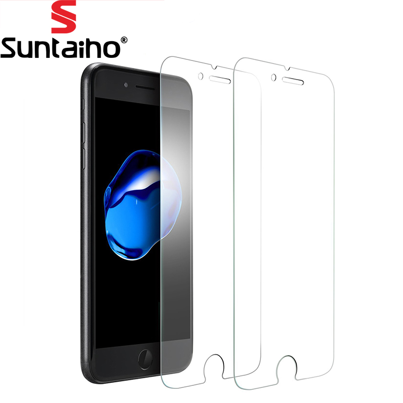 Suntaiho Ultra Thin 0.15mm Screen Protector iphone 6s, 9H 2.5D Tempered Glass iphone 7 Plus film Screen Protector2Pack
