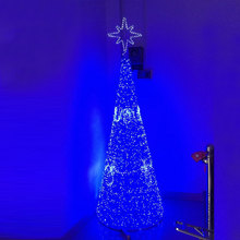 2.5Meters 3400LEDS blue led christmas tree lights of blue led tree for hotel or bar decorations(China)