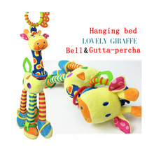 Giraffe plush toy Spiral lovely baby bed pram hanging toys baby stroller toy infant gifts plush product hanging baby rattle toy
