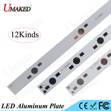 10pc High power 1W3W5W LED aluminum plate 130 150 300 390 500 590mm Aquarium light bead install 5 6 8 10 12 15 20 LEDs PCB Board