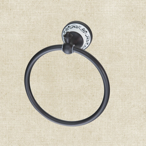 Yanksmart Bathroom Oil Rubbed Black Bronze B5132 Solider Brass Bathroom Accessory Hardware Bath Towel Ring Rack Towel Rings<br><br>Aliexpress
