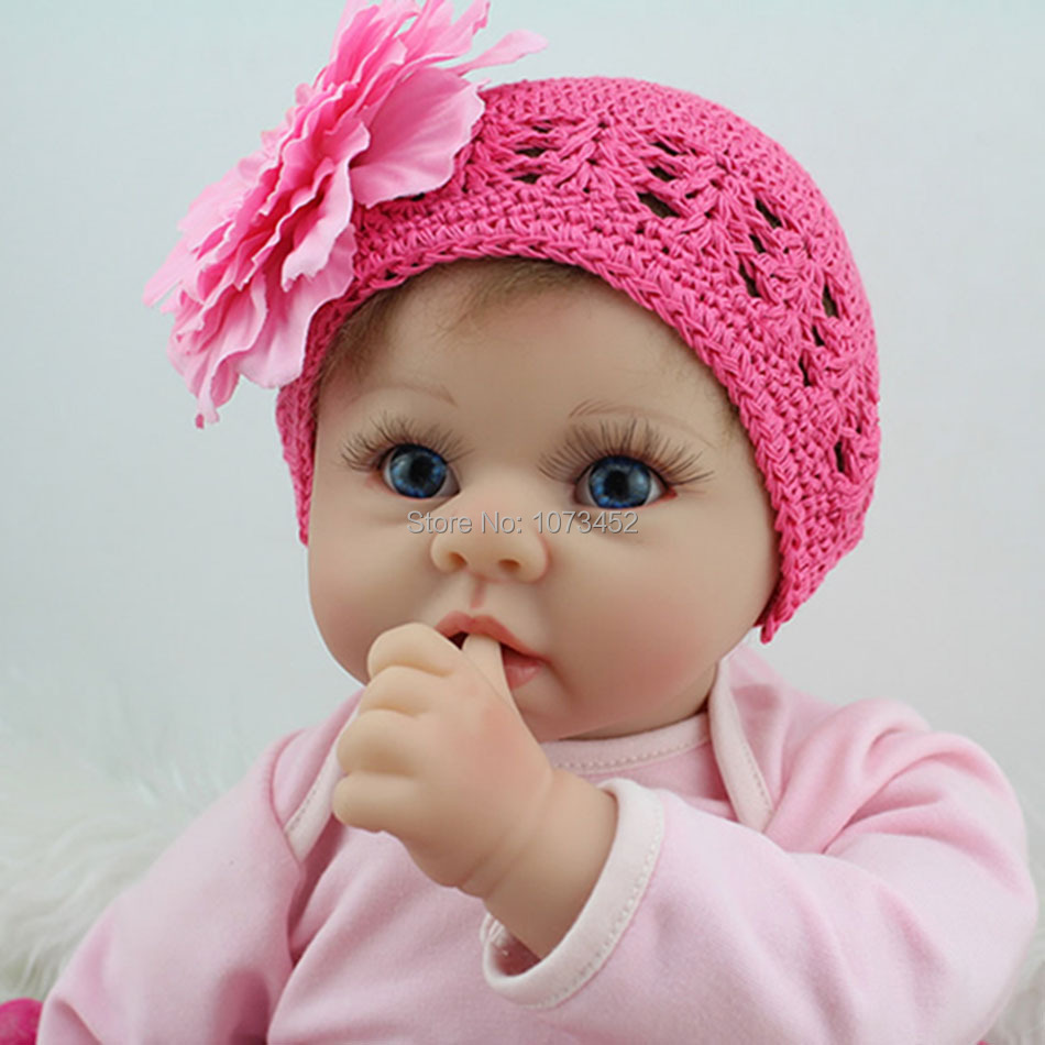 silicone reborn baby dolls brinquedo barbe juguete reborn babies bonecas bebe toy highquality  lifelike baby doll  gift for girl<br><br>Aliexpress