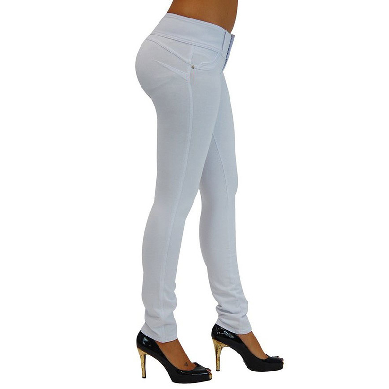 Sexy Push Up Leggings, Women's Denim Leggings, Casual Elastic Jeggings 18