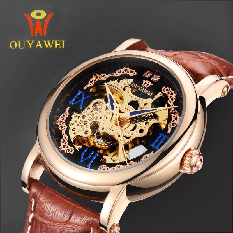 Automatical Mechanical Watches Men Luxury Brand Wrist Watch Male Clock Leather Wristwatch Men Skeleton Casual Business Watch<br><br>Aliexpress