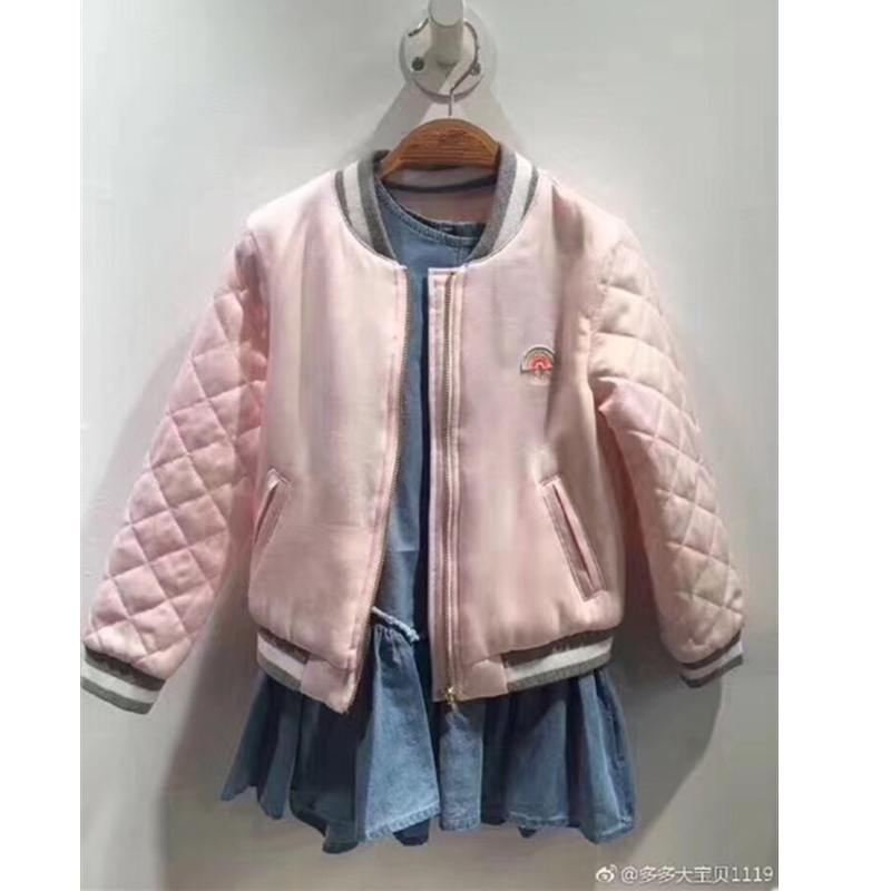Family matching christmas outwear coat solid pink color cotton padded MOM &amp; Daughter Winter Jacket matching family clothes<br>