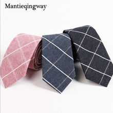Mantieqingway Men's Suit Tie Classic Men's Plaid Necktie Formal Wear Business Bowknots Ties Male Cotton Skinny Slim Ties Cravat