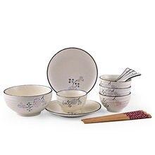 15pcs Dinnerware Sets Japanese Cutlery Set Creative Tableware Ceramic  Household Dinner Sets(China)