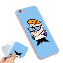 Dexter Cartoon Network Clear Soft TPU Slim Silicone Phone Case Cover for iPhone 4 4S 5C 5 SE 5S 7 6 6S Plus 4.7 5.5 inch