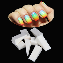 8Pcs/Set Soft Triangle Nail Art Polish Gel Gradient Color Stamping Stamp Drawing Painting Sponge Image Transfer Manicure tool(China)