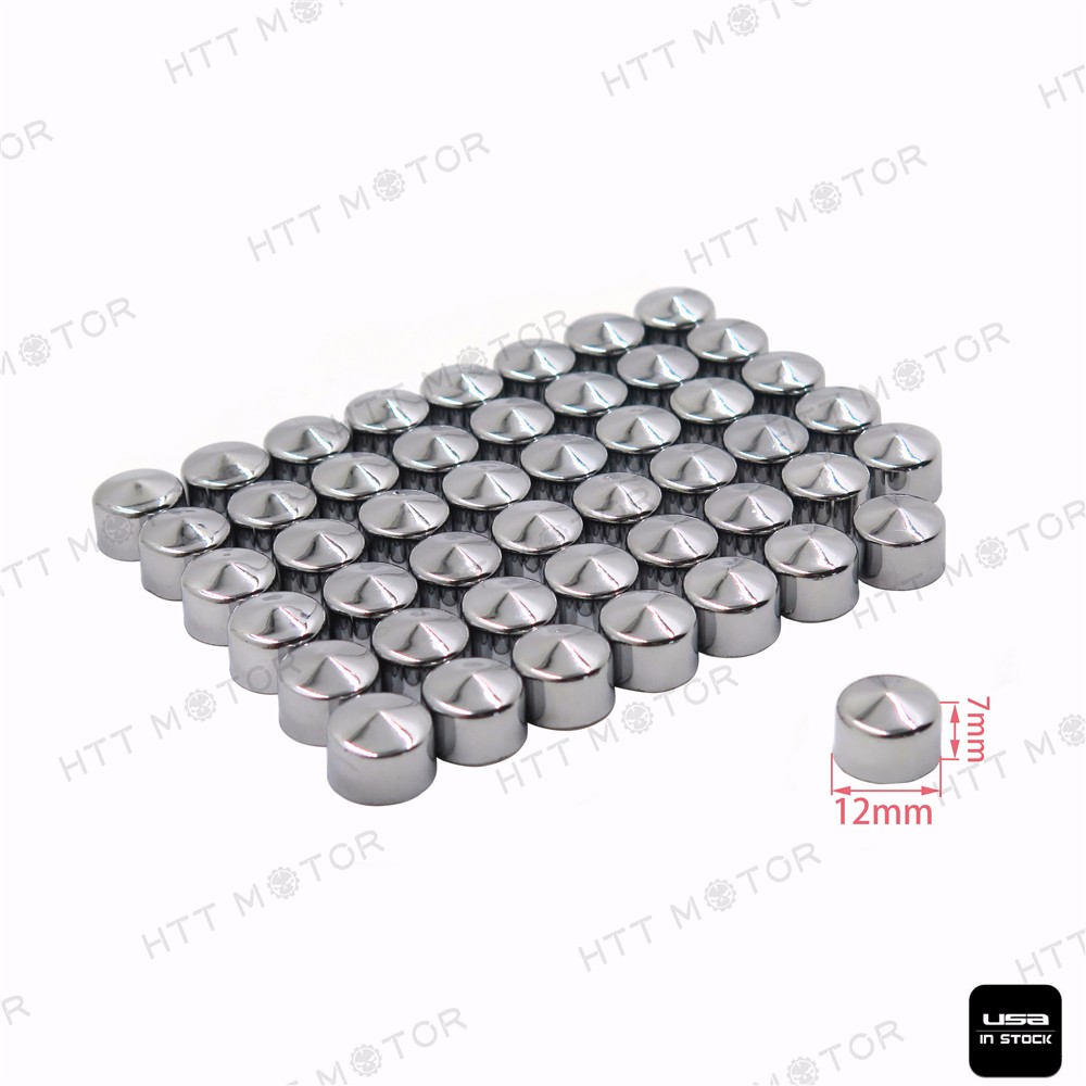 87 pcs Chrome ABS Bolt Toppers Caps For Harley Softail Twin Cam 1984-2006 04 05