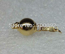 AAA Wholesale 10 PCS 9MM  ball clasp 14K gold plated clasp