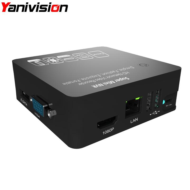 Yanivision Super Mini NVR 4CH 8CH FOR Full HD IP Camera Network Video Recorder 1080P/960P/720P NVR Onvif HDMI E-SATA Support USB<br>