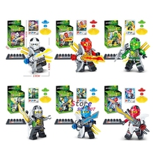 6super hero Ninja figures Series Training Suit Kai Cole Lloyd Nya Zane building blocks bricks toys hobby kids children - Aliex Building Blocks Toys store