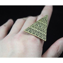 2016 Newest Fashion Exaggerated Personality Adjustable Size Rings Love Magic Triangle Opening Ring  R118 R438