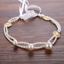 MANWII Bride European - style hand - made pearl bridal dress accessories bridal bridal hand - headdress factory direct AQ2090(China)
