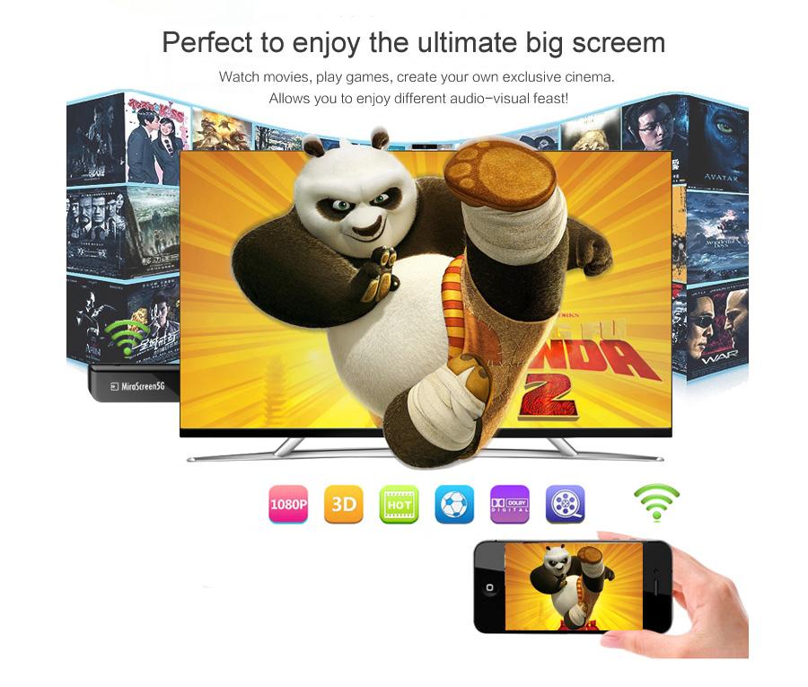 عرض لاسلكي من الهواتف الذكية الى التلفاز Mirascreen MX جديد 8