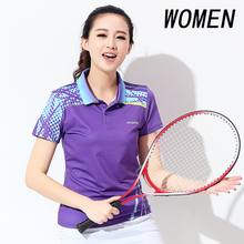 New badminton suit summer sports suit lady fast dry summer wear tennis shirt shirt badminton short sleeved shirt free shipping(China)