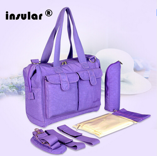 insular baby diaper bag for mom multifunctional nappy changing shoulder handbag women maternity mummy bag 4 colors available<br>