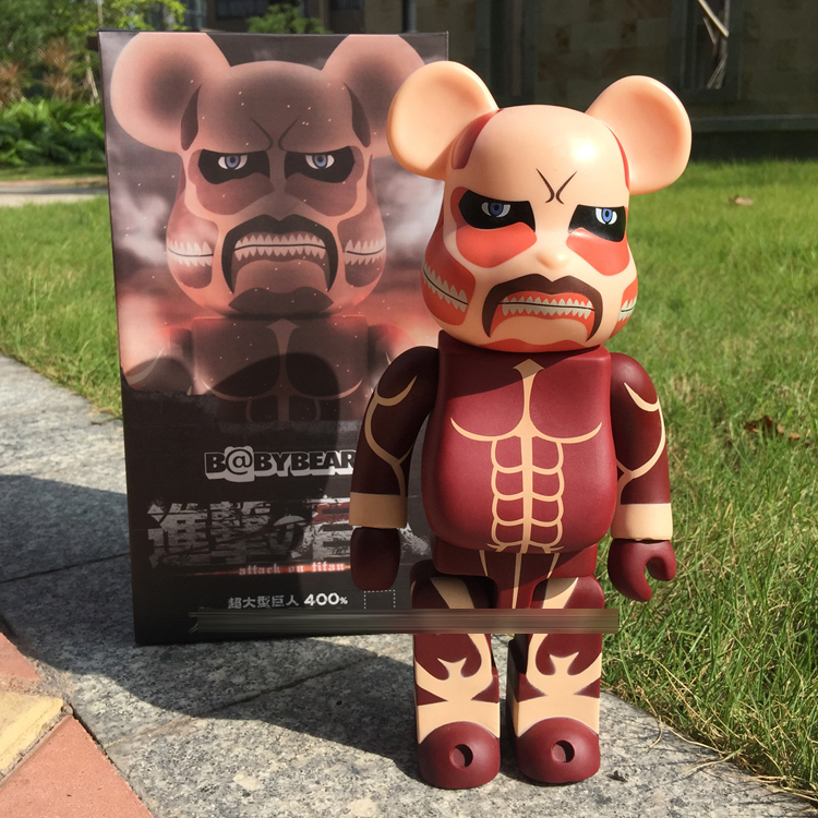 Hot Sale Bearbrick Be@rbrick Attack on Titans 400% 28CM Dolls PVC Action Figure<br>