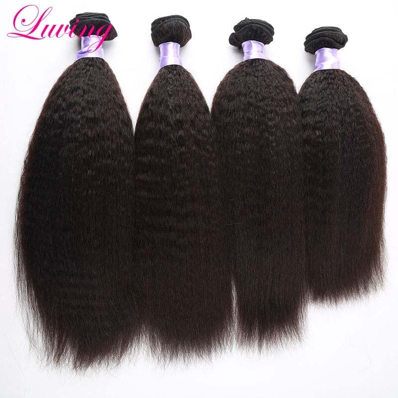 7A Grade Peruvian Virgin Kinky Straight Unprocessed Hair Extension 4pcs Coarse Yaki Virgin Hair Light Yaki straight<br><br>Aliexpress